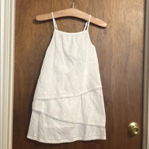 White Eyelet dress- size 8 excellent condition